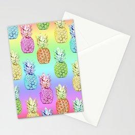 Pineapple Rainbow Stationery Cards