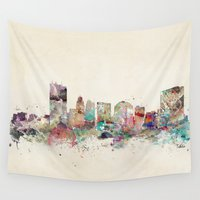 ohio Wall Tapestries featuring toledo ohio skyline by bri.buckley