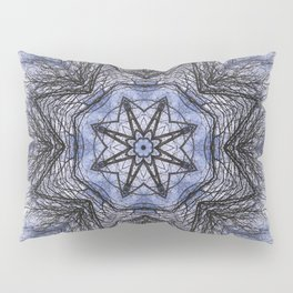 Branches, clouds and sky kaleidoscope Pillow Sham