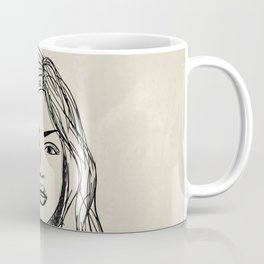 Hand drawn woman with long hair Coffee Mug