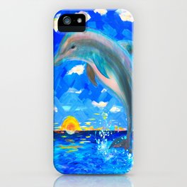 Baby Dolphin 5D Radiance iPhone Case