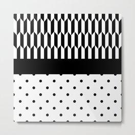 Polka Dots Pin Tips Metal Print