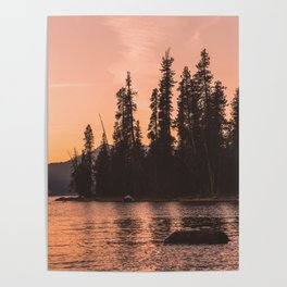 Forest Island at the Lake - Nature Photography Poster