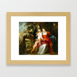 Peter Paul Rubens The Holy Family with Saints Francis and Anne and the Infant Saint John the Baptist Framed Art Print