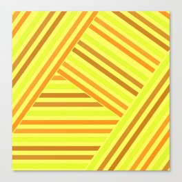 Bright yellow stripes Canvas Print