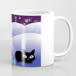 Glow in the Dark Xmas Cats Coffee Mug