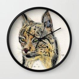 Iberian lynx Wall Clock