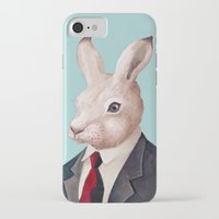 rabbit iPhone & iPod Cases featuring Rabbit by Animal Crew