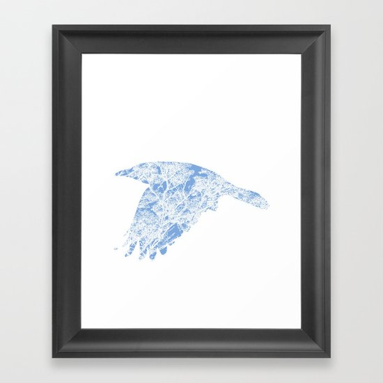 The Blue Rook Framed Art Print