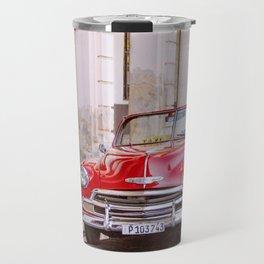 Vintage Red Car, Havana Travel Photography Travel Mug