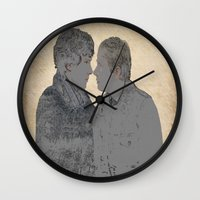 johnlock Wall Clocks featuring PRESSURE POINT  by thescudders