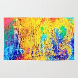 Imaginäre Landschaft - Ölgemälde auf Leinwand Rug