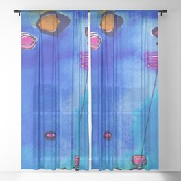 Magical Thinking No. 2C by Kathy Morton Stanion Sheer Curtain
