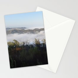 Marine Layer Mist Rising Through Topanga Canyon Looking South Stationery Cards