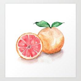 Watercolour Grapefruit Art Print