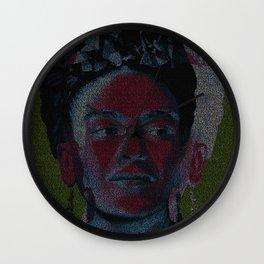 Frida: Screenplay Print Wall Clock