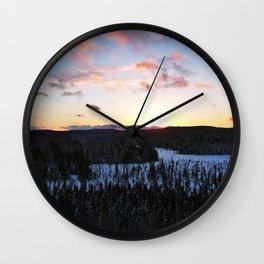 Algonquin Winter Sunset Wall Clock