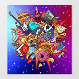 teenage explosion 2 Canvas Print