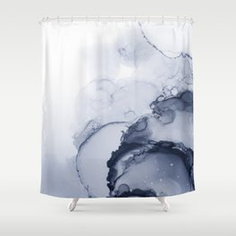 BLUE INK 88 Shower Curtain