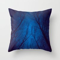 nietzsche Throw Pillows featuring I Have Loved the Stars too Fondly by soaring anchor designs