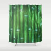bamboo Shower Curtains featuring Bamboo by Digital-Art