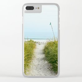 Beach Path to the Sea Clear iPhone Case