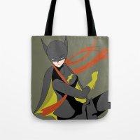 batgirl Tote Bags featuring Batgirl by revolver74