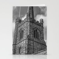 medieval Stationery Cards featuring Medieval Church by David Pyatt