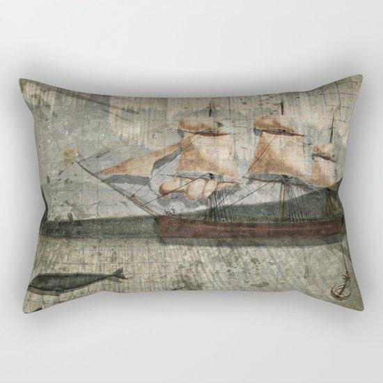 paper III :: octopus/ship Rectangular Pillow