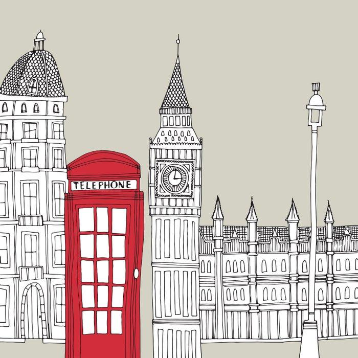 London Red Telephone Box Comforters