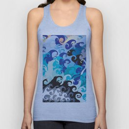 ' Wavez ' By: Matthew Crispell Unisex Tank Top