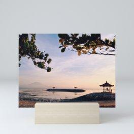 sunrise in sanur Mini Art Print