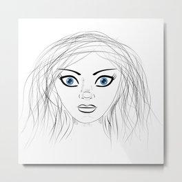 Blue-Eyed Girl Metal Print