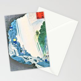 Kobayashi Kiyochika - Sketches of the Famous Sights of Japan - Urami Waterfall - Digital Remastered Edition Stationery Cards