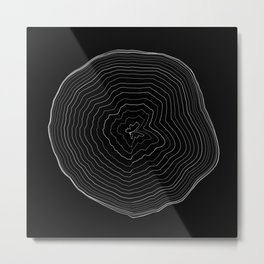 Perlin Noise Ring Lines  Metal Print