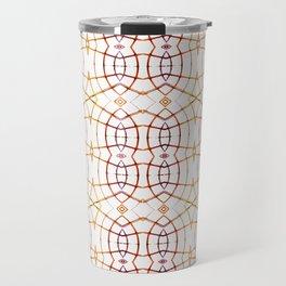 Bright Modern Interlace Print Pattern Travel Mug