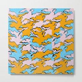 Fringed Flying Figures Tessellation Metal Print