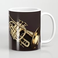 trumpet Mugs featuring trumpet by Ancello