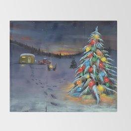 Christmas Campers Throw Blanket