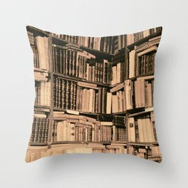 Bookstore Rom Throw Pillow