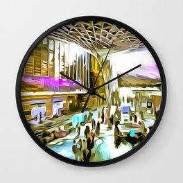 Kings Cross Station London Pop Art Wall Clock