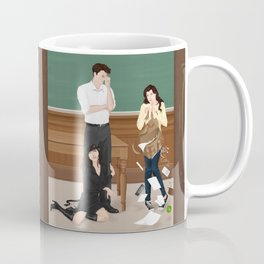 the professor, the pet and the frightened rabbit Coffee Mug