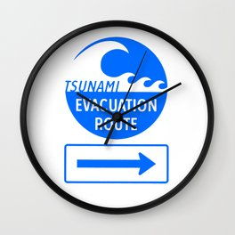 Tsunami Evacuation Route Wall Clock