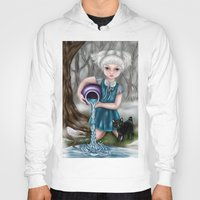 aquarius Hoodies featuring Aquarius by Paula Ellenberger