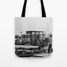 Out for a ride b&w Tote Bag