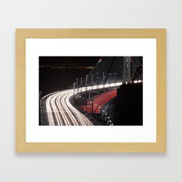San Francisco Bay Bridge opening Framed Art Print