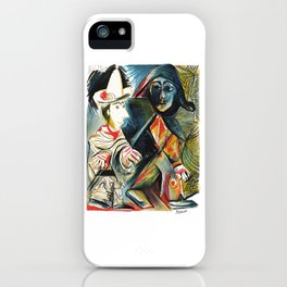 Pablo Picasso Le clown et l'Harlequin (The Clown and the Harlequin) 1971 Artwork, tshirt, tee, jerse iPhone Case