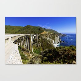 Bixby creek bridge, Big Sur, CA. Canvas Print