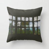 window Throw Pillows featuring Window by Aaron Carberry