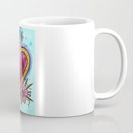 the crystal blossom gold heart Coffee Mug